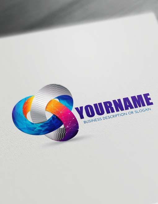 Free 3d Logo Maker Modern 3d Textured Logo Creator Logo Maker 3d Logo Design Innovative Logo
