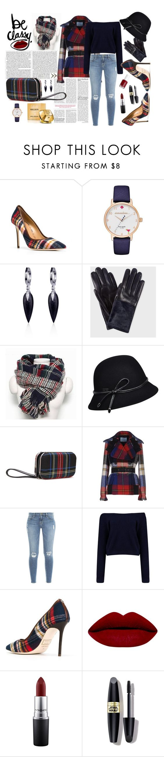 """""""Be classy"""" by natasa-topalovic ❤ liked on Polyvore featuring мода, Dsquared2, Kate Spade, Belk & Co., Paul Smith, Betmar, Prada, Frame Denim, MAC Cosmetics и Max Factor"""