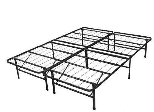 Spa Sensations Steel Smart Base Bed Frame Black Queen Frame