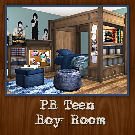 CC FOR SIMS 4: SIMS 4- PB TEEN BOY ROOM FROM ANNA@BPS- CONVERSION