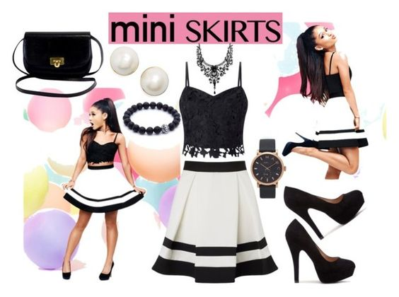 """""""#miniskirt1"""" by aliss90 ❤ liked on Polyvore featuring Lipsy, Kate Spade, Marc Jacobs and MINISKIRT"""
