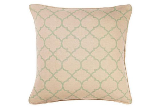 Trellis 20x20 Pillow, Seafoam Green | Affordable Accents | One Kings Lane