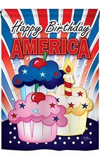 American Cupcake 2-Sided Vertical Flag