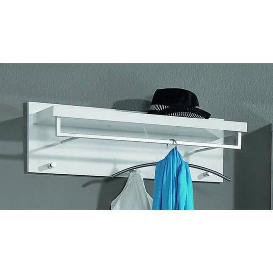 Garderobenpaneele -Lagos-, Hutablage mit Kleiderstange, Korpus weiß,  Hochglanz Lack weiß - X-Möbel.de | Ihr Online Möbelhaus