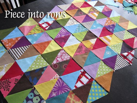 Triangles Tutorial at Stitched in Color! by StitchedInColor, via Flickr