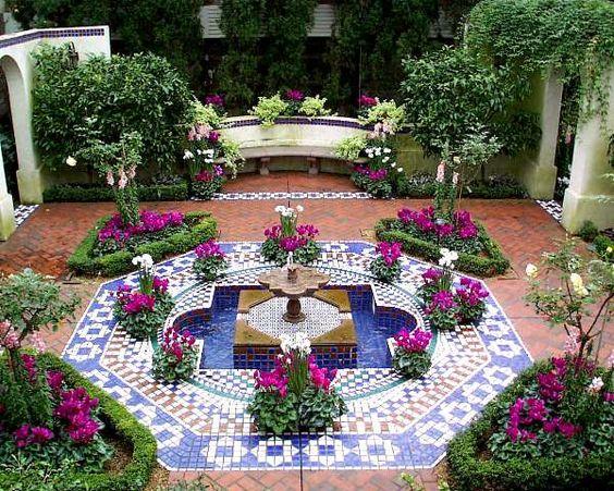 Home garden and mosaic design gardenersworld pinterest for Mosaic landscape design