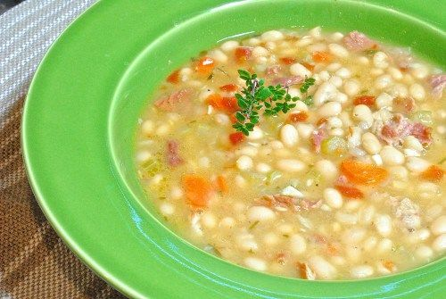 This White Bean Soup with Ham makes use of your leftover ham bone.