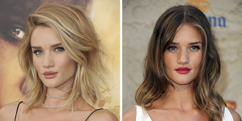 32 Celebrities Who Were Blonde And Brunette Brunette To Blonde Dyed Blonde Hair Blonde Vs Brunette