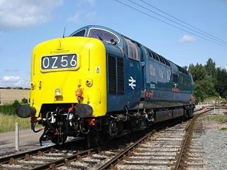 Class 55 Deltic no 55 022 ROYAL SCOTS GREY these famous engines replaced the Gresley A4 Pacific steam locos on the east coast expresses until themselves replaced by HSTs in the late 1970s, the East coast line was finally electrified in the late 1980s.