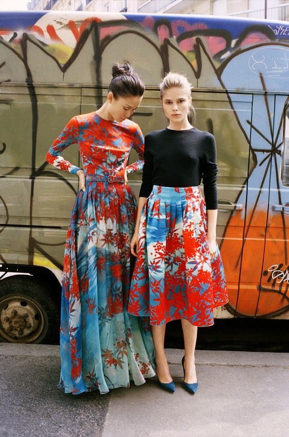 the colors + prints + silhouettes of both, but absolutely love the dress