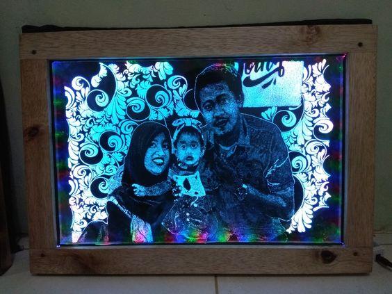 Grafir Kaca Lampu Led Foto Keluarga Lampu Led Foto Keluarga Lampu
