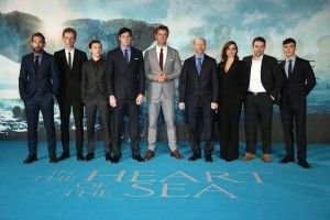 Chris Hemsworth and the cast of In the Heart of the Sea rock the Blue carpet at the film premiere's around the world for their film based on the 1820 tale that inspire the Moby Dick.