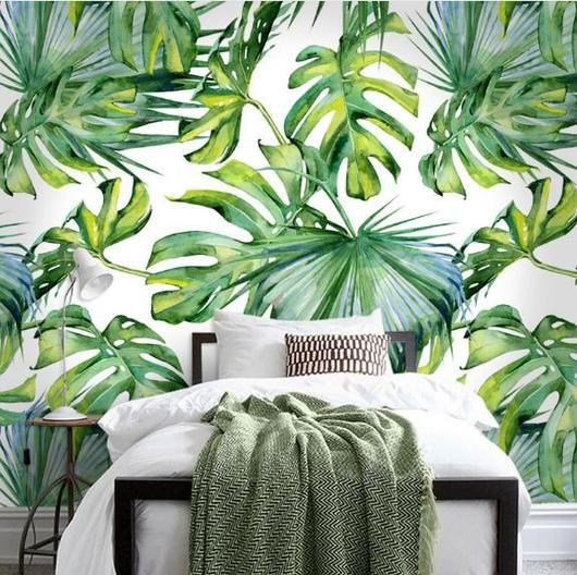 33 Trendy Nature Inspired Wallpaper Bathroom Bathroom Nature Wallpaper White Wallpaper Black And White Wallpaper Discount Bedroom Furniture