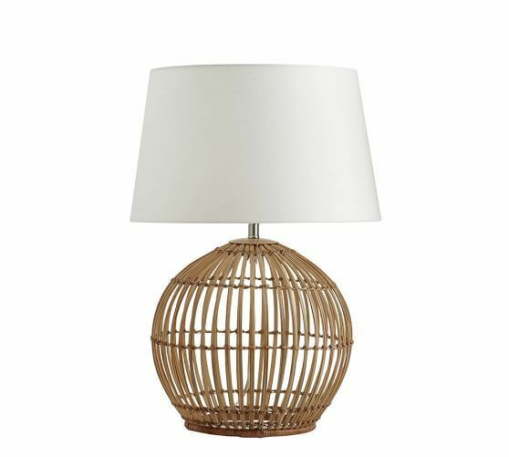Pottery Barn Wyatt Table Lamp 18h Open Weave Light Lampshade Included Nib Ebay Lamp Table Lamps For Sale Table Lamp
