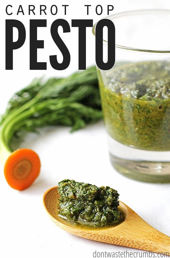 This easy recipe for delicious carrot top pesto is incredibly ...