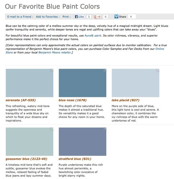 Blue Paint Colors Shades Of Blue And Paint Colors On