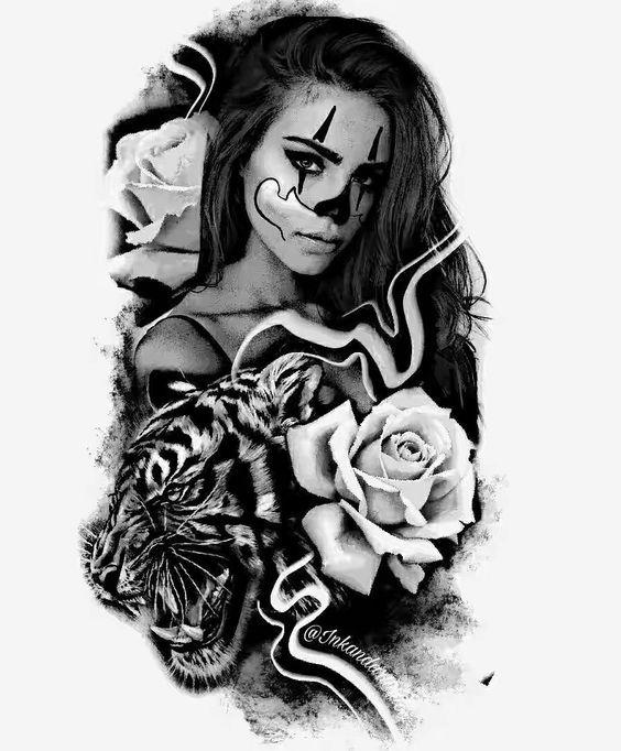 Desenhos Para Tatuagens Realistas Chicano Tattoos Black And