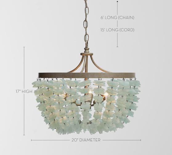 Enya Seaglass Chandelier Mediterranean Decor Sea Glass Chandelier Eclectic Chandeliers