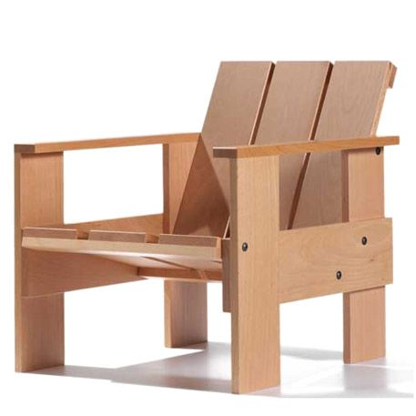 Krathout stoel by gerrit rietveld interior and exterior beauty pinterest chairs pallets - Pallet stoel ...