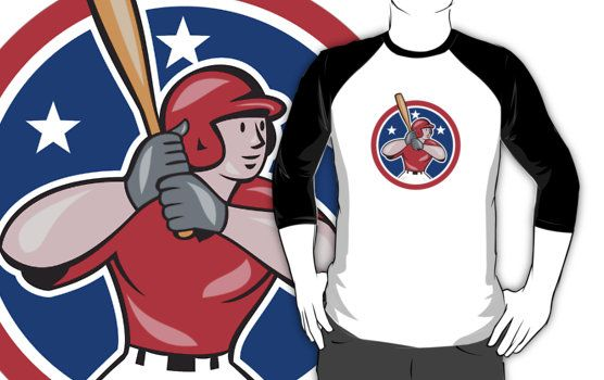 Baseball Player Batting Cartoon by patrimonio