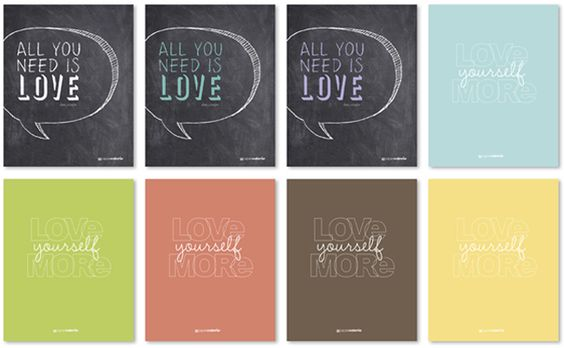 Beautiful free printables from Paper Coterie today...just in time for Love Day