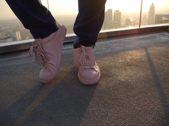 new love, rose fringed sneaker.