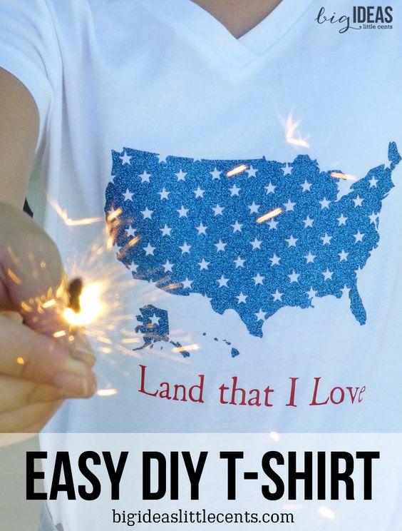Easy Patriotic Diy T Shirt Free Silhouette Studio Cut File