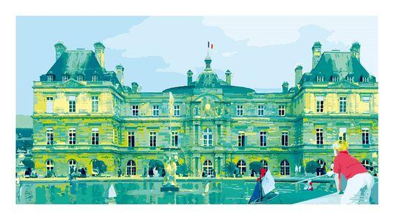Jardin du Luxembourg - Roberto Sieni - from 192€ - Jardin du Luxembourg è un'opera realizzata da Roberto Sieni, artista che lavora da anni come grafico; la sua attività spazia dalle realizzazioni editoriali alle pubblicitarie alle opere d'arte.