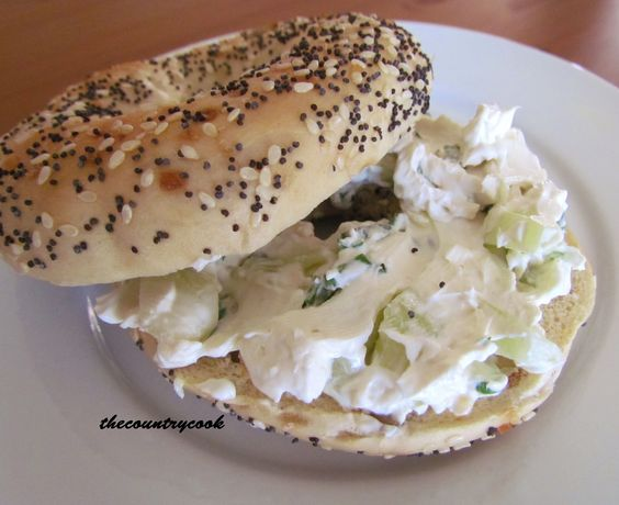 The Country Cook: Cucumber Cracker and Bagel Spread