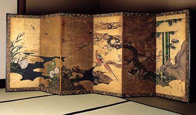 Japanese Byobu screen