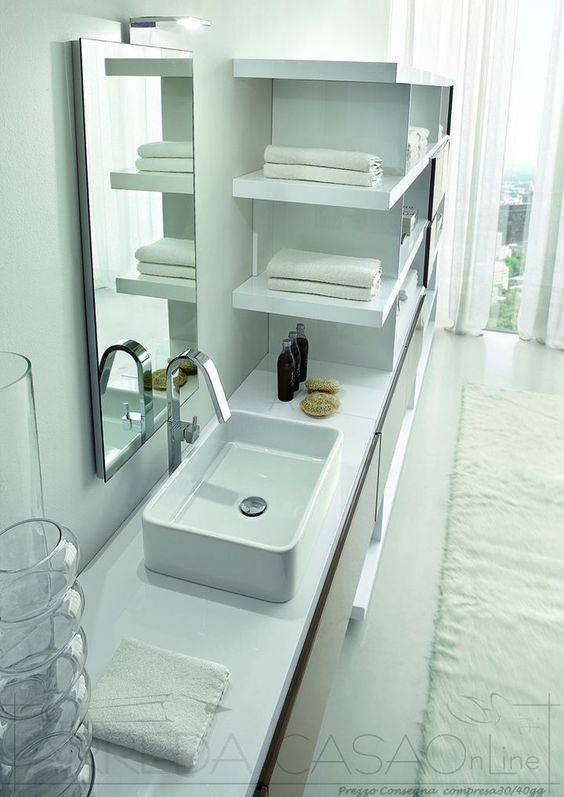 arredo bagno moderno componibile tamb08 | prezzo arredacasaonline ... - Arredo Bagno Moderno Prezzi