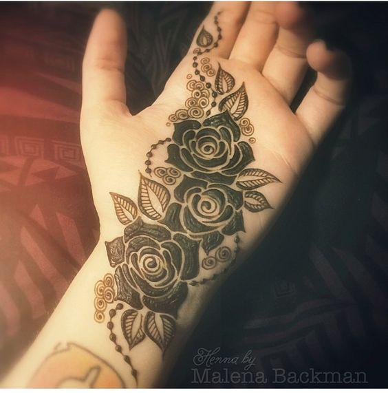 Rose Flower Mehndi : Roses mehndi designs henna pinterest creative