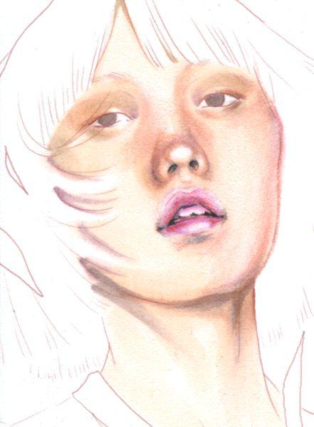 Portraits mit Copics & Farbstiften