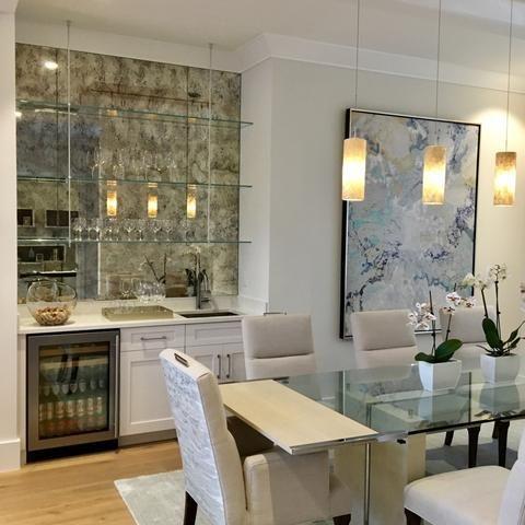 Antique Mirror Wet Bar Interior Design Bars For Home Home Decor