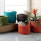Knitted Basket Set