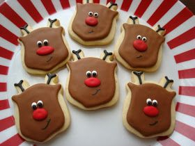 FLOUR & SUGAR: Christmas Cookies {Reindeer, Trees, Penguins, Candy Canes, Holly Leaves}
