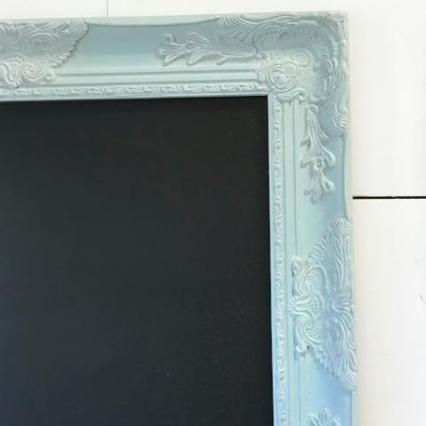 Soft Blue Distressed Chalk Board Kitchen Memo Board Memo Board