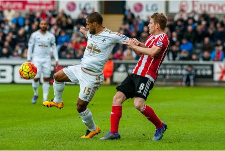 Roultedge battling in the 1-0 loss to Southampton