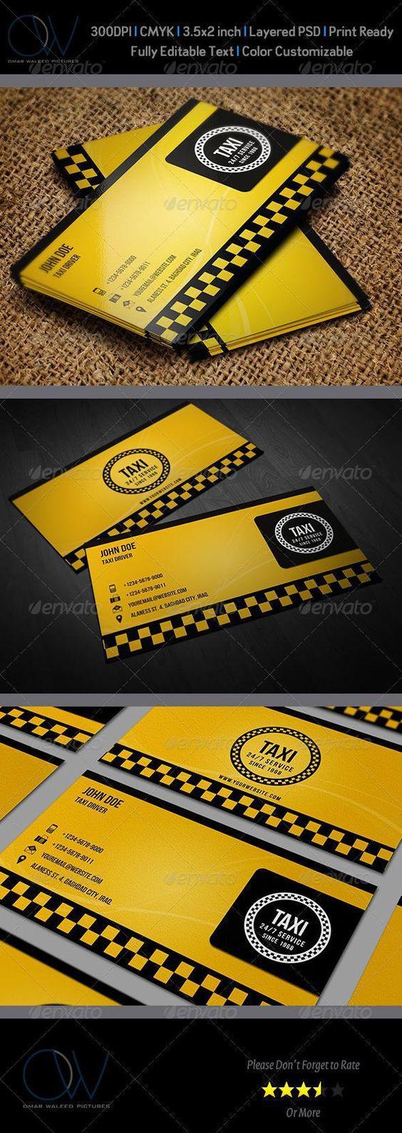 Taxi Business Card | Business cards, Business and Cards