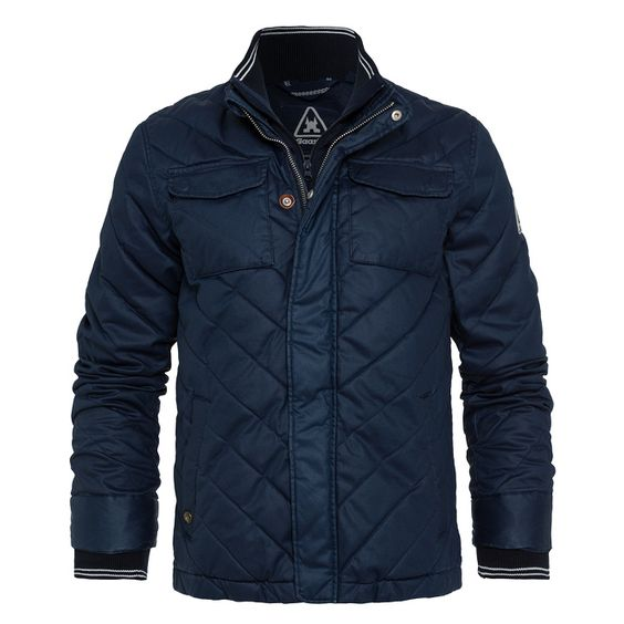 Quilted Jacket Revel  High-quality quilted jacket for the colder months. The waxed surface and leather patches on the elbows skilfully round off the exclusive design.
