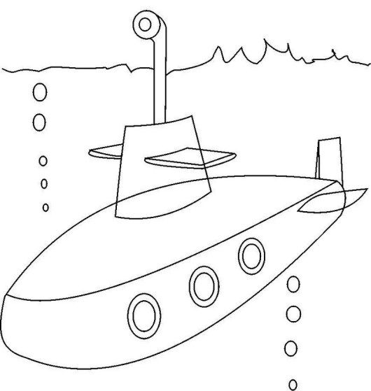 Submarine Conatiners Transport Undersea Coloring Sheet Memorial Day Coloring Pages Coloring Pages Flower Coloring Pages