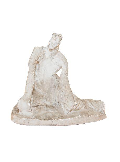 Unusual Mid-Century Plaster Artist Sculpture