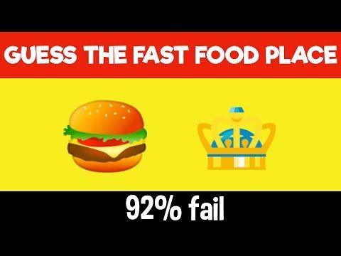 Guess The Emoji Youtube In 2020 Emoji Challenge Emoji Quiz Fast Food Places