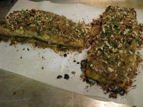 Matt Likes to Cook - Matt Likes to Eat: Honey Dijon Pecan Crusted Salmon!