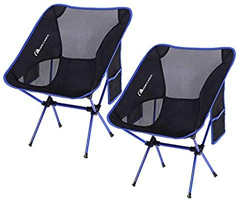 Cascade Folding Lightweight Camping Yard Outdoor Beach Chair with Backpack Bag