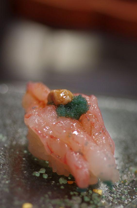AMA-EBI, Japanese Sweet Shrimp Nigiri Sushi 甘えび