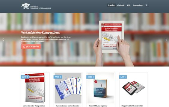 """Eine Kollegin nennt es """"Spezialbuchhandlung für Werbe- und Verkaufstexter"""" http://shop.verkaufstexter-akademie.de"""