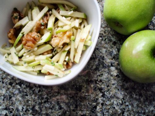 Apple Manchego salad - this is so good!