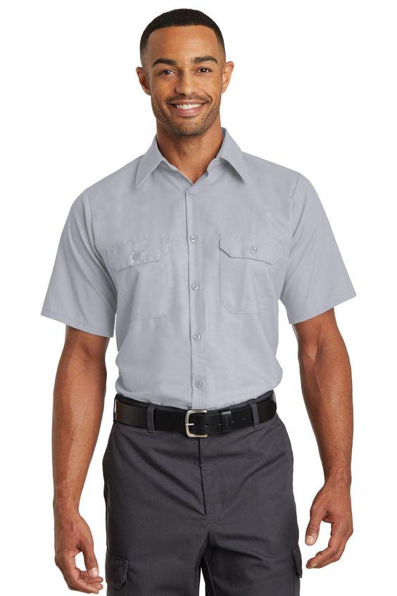 Red Kap Short Sleeve Solid Ripstop Shirt SY60 Grey