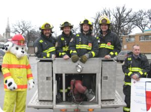 Winnipeg Fire Fighters and Sparky